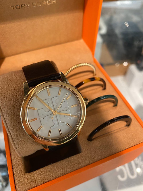 TORY WATCH WITH 4 EXTRA RINGS