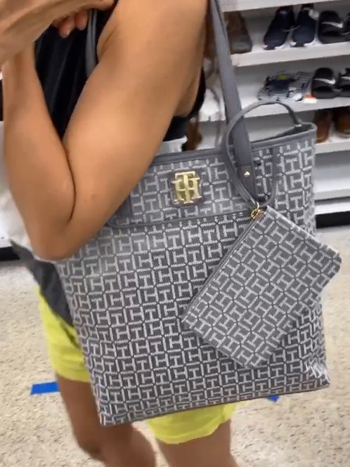 TOMMY TOTE BAG WITH CLUTCH