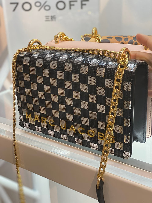 MARC J SEQUIN DOUBLE TAKE CHAIN  BAG