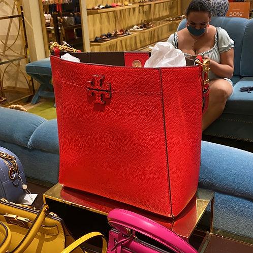 TB HOBO BRILLIANT RED SHOULDER BAG