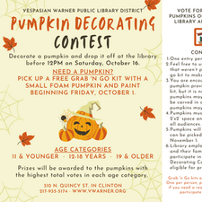 Pumpkin Decorating Contest and Grab 'n Go!