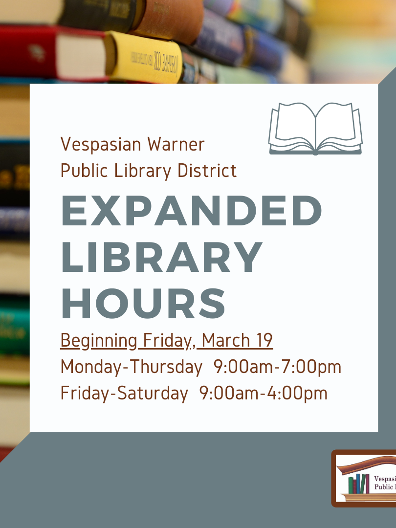 Expanded Library Hours!