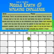 Middle Earth Challenge!