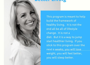 Coming soon...Sara's 6-Week Challenge to Better Living
