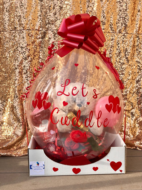 Valentine package  Stuff balloon  bear