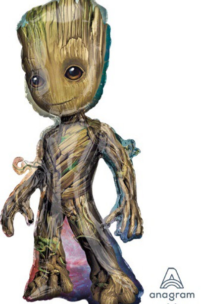 """Large 40"""" BABY GROOT  guardians of the galaxy superhero balloons"""