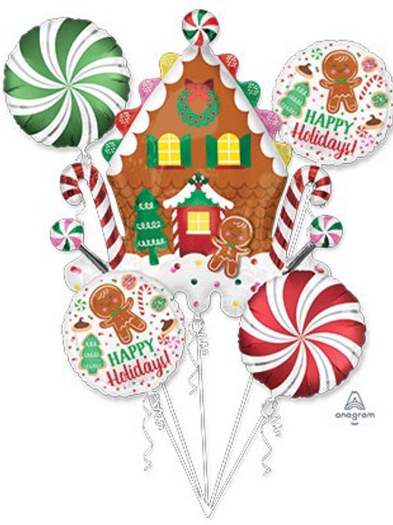BOUQUET GINGERBREAD HOUSE & CANDY Christmas