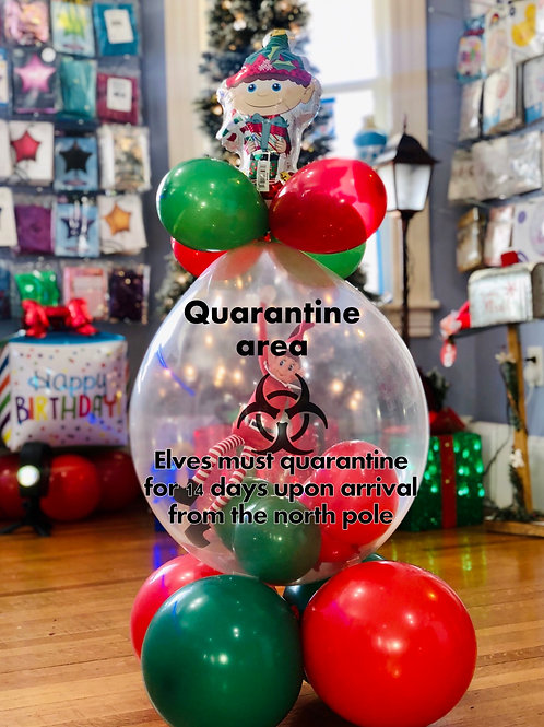 Quarantine balloon with elf
