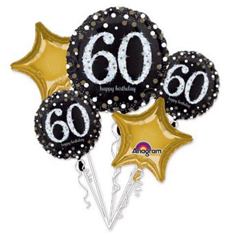 BOUQUET Happy birthday 60th 60 SPARKLING BIRTHDAY