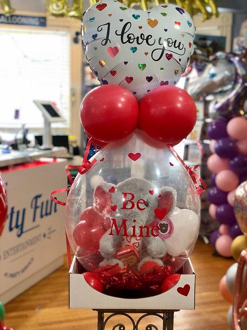 Kids valentine stuffed balloon with plush vday