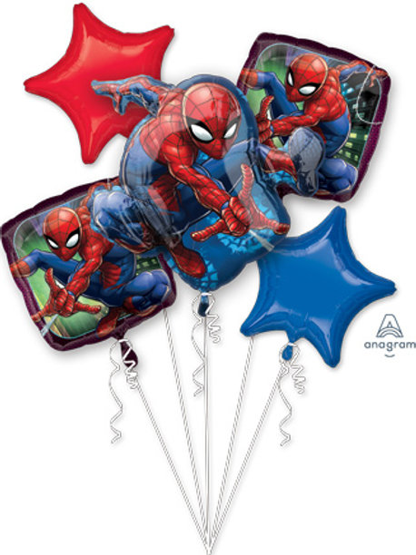 BOUQUET SPIDER-MAN ANIMATED SUPERHERO balloons