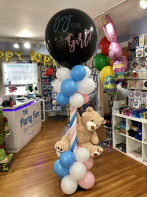 Gender reveal balloon column