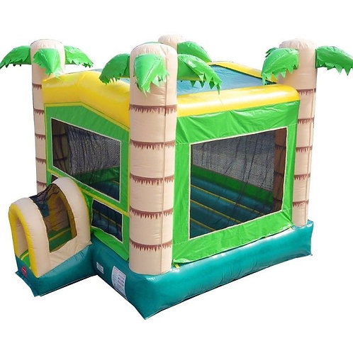 Modular Tropical Inflatable Bounce House with Blower