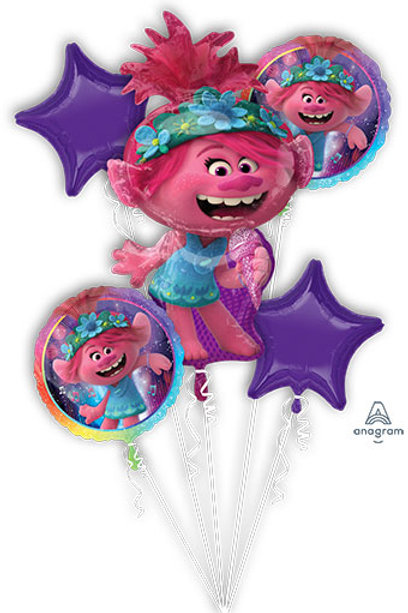 BOUQUET TROLLS WORLD TOUR foil balloons set