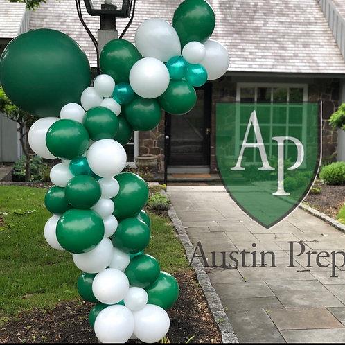 Austin Prep balloon garland
