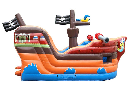 Deluxe Pirate Ship Bounce House and Slide Combo