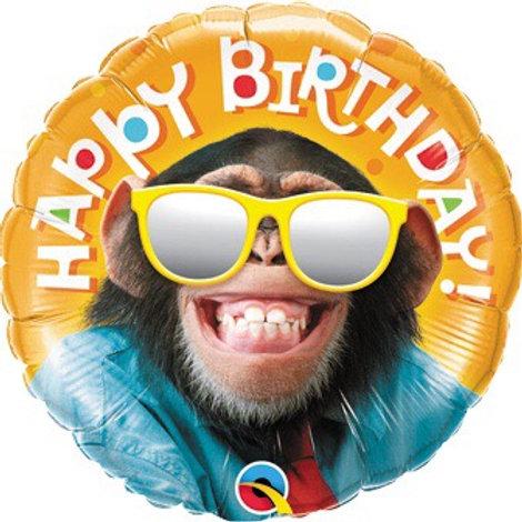 18C HB SMILIN' CHIMP Chimpanzee monkey happy birthday