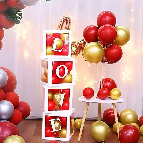 Love balloon boxes with balloon in them only ( valentine)