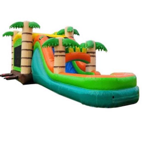 Mega Tropical Water Slide Bounce House Combo