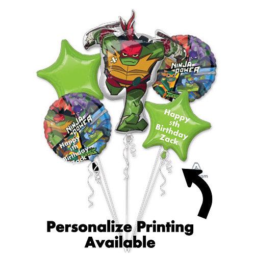Rise Of The TMNT bouquet foil set balloons