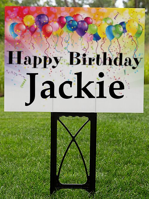 Custom Happy Birthday Lawn  sign