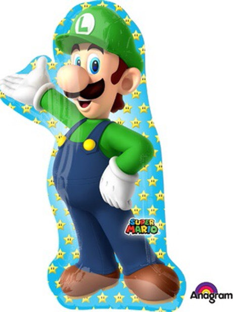 "XL 38"" Super Mario brothers Luigi balloons gamer"