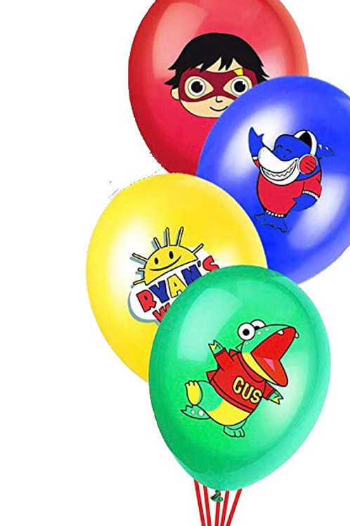 4 pc set Ryan's world balloons