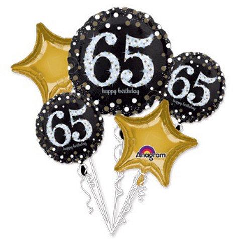 BOUQUET HB 65 SPARKLING happy birhday 65th BIRTHDAY