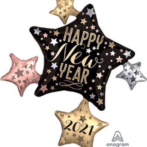 LRG SHP 2021 SATIN NEW YEAR CLUSTER 35