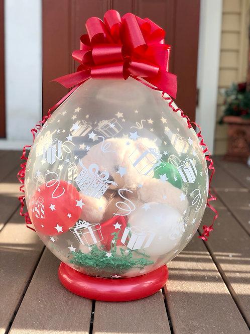 Christmas stuffed bear with Van Otis Truffles