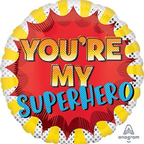 """You are my super hero 18"""" foil balloon"""