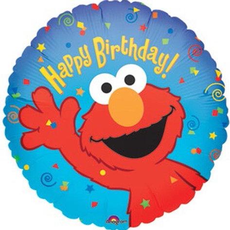 "ELMO 18"" balloon happy birthday"