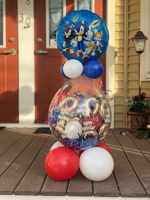 Sonic the hedgehog sruffed balloon