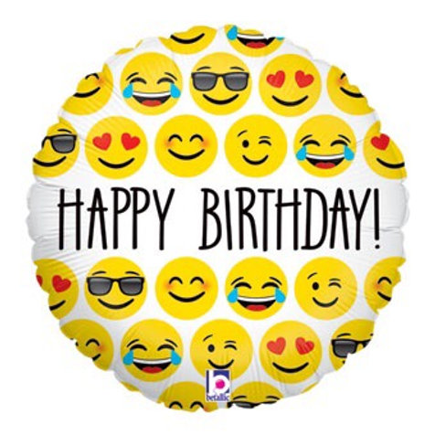 Emoji Happy Birthday foil balloon