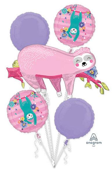 Soth bouquet foil set pink balloons set