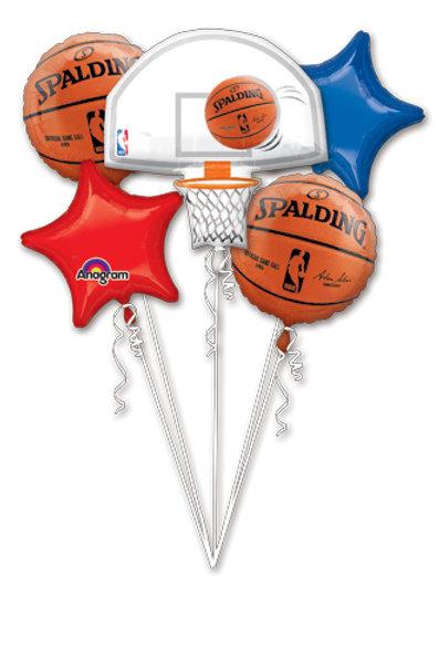 BASKETBALL BOUQUET SPORTS NBA SPALDING BASKETBALL balloons
