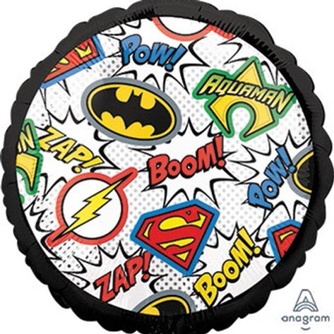 "Standard 18"" JUSTICE LEAGUE Batman aquaman flash Superman  superhero balloons"