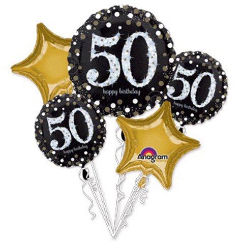 BOUQUET 50th birthday 50 SPARKLING BIRTHDAY