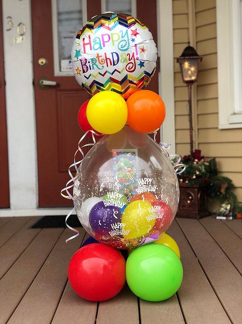 Happy birthday balloon stuffed balloon