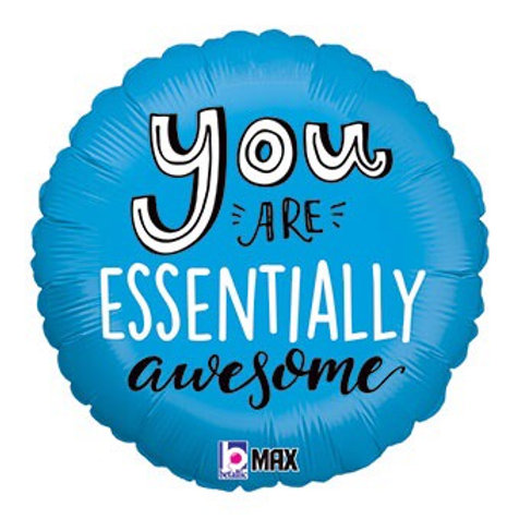 """You are essentially awesome 18"""" foil ballon"""