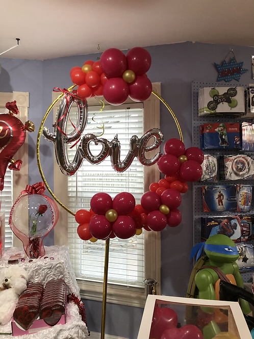 Valentine balloon decor display