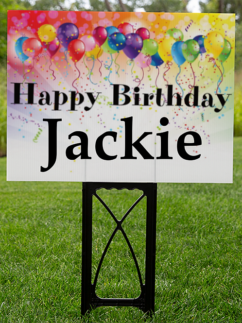Personalized lawn Sign