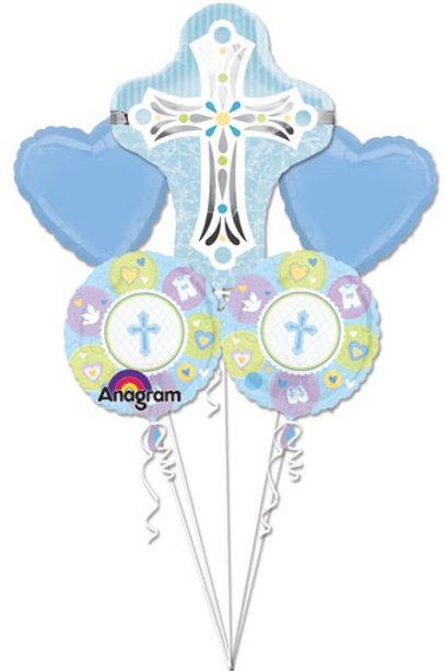 BOUQUET SWEET BABY CHRISTENING BLUE CROSS