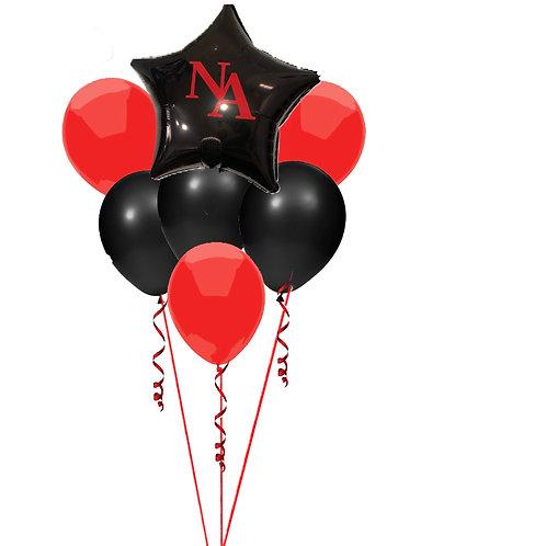 North andover Graduation balloon bouquet