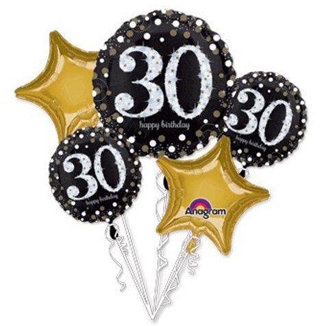 BOUQUET HAPPY birthday 30th SPARKLING BIRTHDAY 30