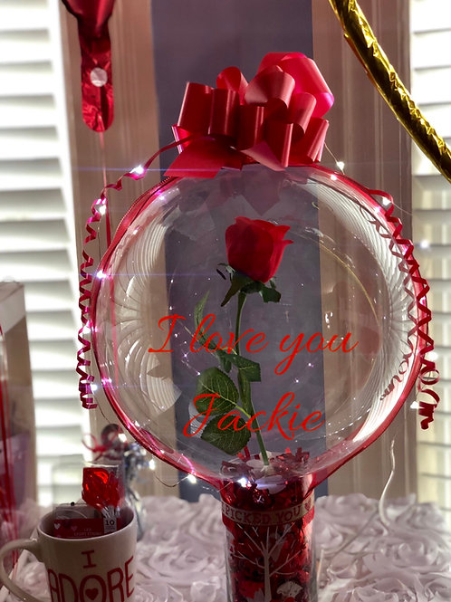Led rose stuffed balloon. With