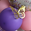 Thumbnail: Butterfly stuff balloon with gold 3D butterfly's