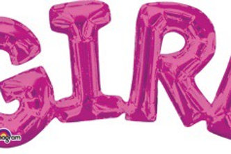 """GIRL PINK 22"""" it's a girl air filled"""