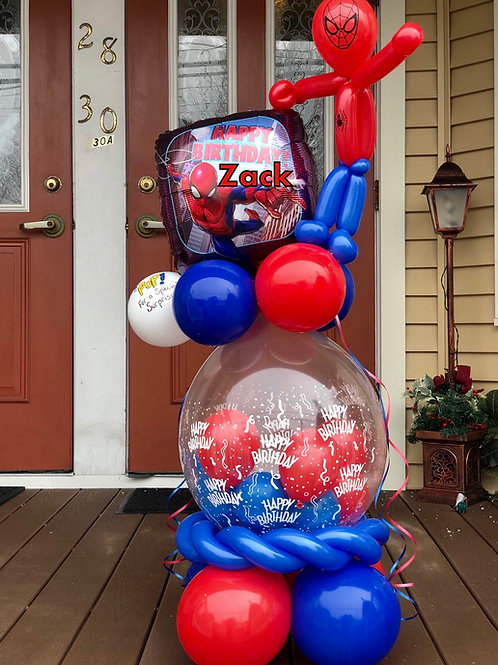 Spiderman balloon stuffer w/candy