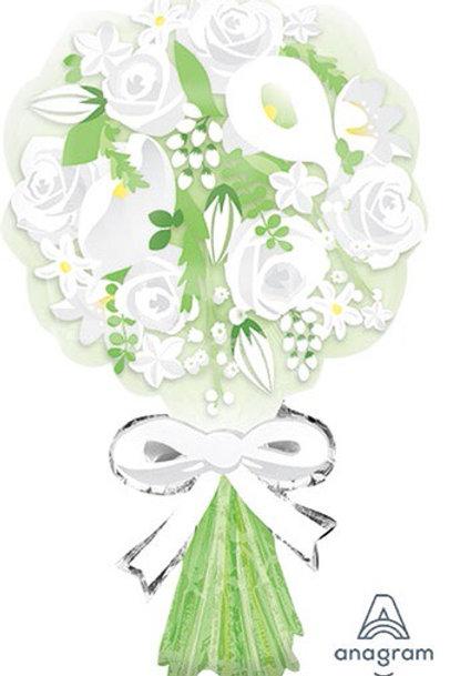 "LRG SHP flower BOUQUET FOR THE BRIDE 30"" wedding"